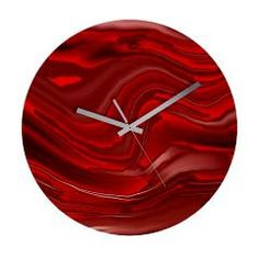 red paint Wall Clock > designs with only one color > MehrFarbeimLeben