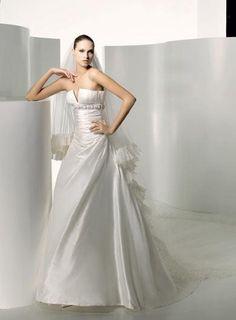 Robe de mariée de nouveauté avec le col en V