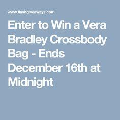 Enter to Win a Vera Bradley Crossbody Bag - Ends December 16th at Midnight