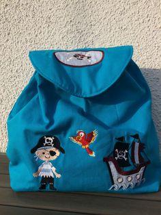 """Kinderrucksack """"Pirat"""" von siebenbruecki auf DaWanda.com"""