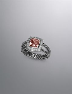 David Yurman.  Love this ring.  What a brilliant coloured morganite.  Looks like it should be mine, I think.