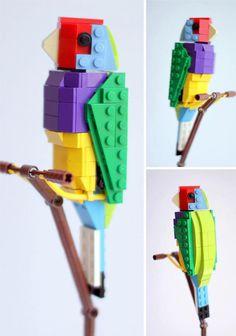 Carona Canary Bristol, England based LEGO and bird lover Thomas Poulsom built a beautiful LEGO series of his favorite Tropical Birds. Wedo Lego, Lego Duplo, Lego Ninjago, Legos, Van Lego, Lego Club, Lego Boards, Lego For Kids, Lego Design
