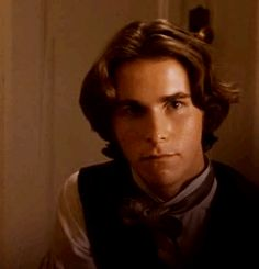 Christian Bale as Laurie in Little Women Christian Bale Hot, Batman Christian Bale, Bae, Woman Movie, Perfect Boy, Pride And Prejudice, Old Movies, Cool, Celebrity Crush