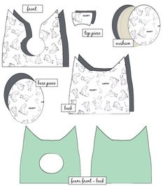 FREE Cat Bed Sewing Pattern - see kate sew Diy Cat Bed, Diy Bed, Fabric Crafts, Sewing Crafts, Sewing Projects, Sewing Diy, Free Sewing, Lit Chat Diy, Niche Chat