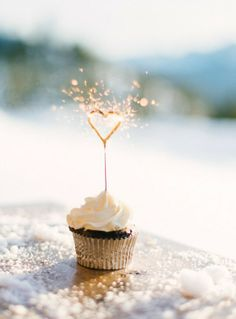 Sparkle and Shine~birthday cupcake.