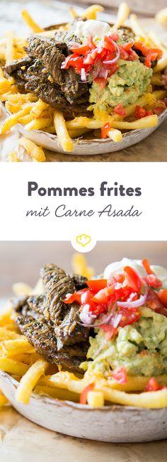 Wer hier stöbert, findet carne asada nicht in seinem Burrito, sondern on top von ein paar goldgelb frittierten Pommes. Und warum? Weil wir's können.