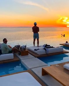 Amazing sunset at mykonos. Amazing sunset at mykonos. Tag someone you would go here with Video by Mykonos Grecia, Cavo Tagoo Mykonos, Mykonos Island, Vacation Places, Dream Vacations, Vacation Spots, Flipagram Instagram, Unique Hotels, Cheap Hotels