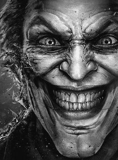 """Oh god I love this rendition of the Joker! Exactly as twisted as I picture him in my minds eye!"" I love this because of reasons."