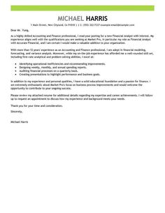 investment management cover letters