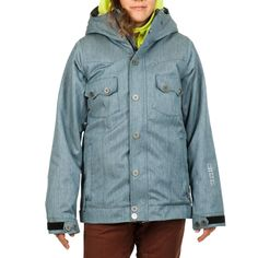 Nikita 2014 Mayon Jacket (Denimblue) Women's Snowboard Jacket