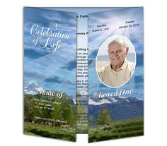 Outdoor Themed Gatefold Program Template Format for Word, Publisher, OpenOffice, Apple iWork Pages