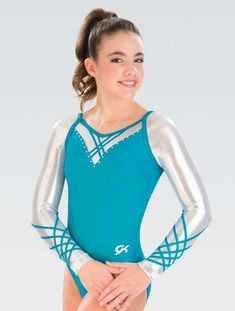 40c47a9e24be Competition Gymnastics Leotard GK Raglan Lattice Long Sleeves Artistic  Gymnastics Leotards, Gymnastics Leos, Gymnastics