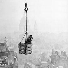 R. J. Salmon over Fleet Street in 1929