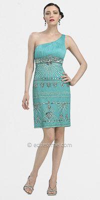 Art Deco One Shoulder Dresses By Sue Wong
