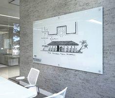 Black Modern Glass Board