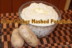 Slow Cooker Mashed Potatoes... that's right cook, mix, and even serve right in your crockpot...  I LOVE LOVE LOVE them, I don't fix them that often but I sure do LOVE THEM... Have I mentioned that I LOVE MASHED POTATOES???    So while mashed potatoes don't that forever to make they are a dish that needs to be made last minute and can take up preciousstove space. SO this is just another option.