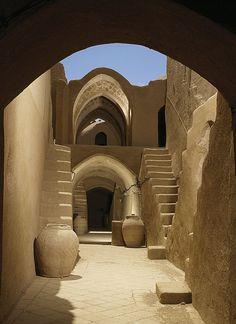 Yazd, Iran - Saryazd citadel - inside                                                                                                                                                                                 Mehr