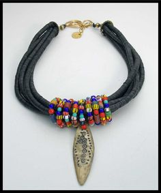 SHAMAN'S SPEAR  African Trade Beads  by sandrawebsterjewelry, $240.00