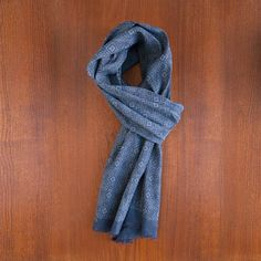 General Knot & Co. - Indigo Selvedge Linen Scarf - Foulard - Indigo & Cotton