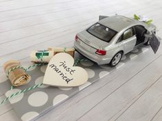 Wedding car Audi sedan color silver metallic The stylish monetary gift Bestie Gifts, Bff, Just Married Car, Diy Wedding Gifts, Audi A6, Wedding Car, Limousine, Diy And Crafts, Wraps