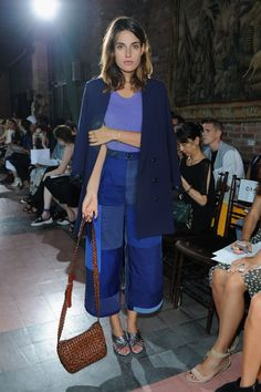 Ana Kras does oversized cropped trousers at the Rodebjer frow #NYFW #SS15 #streetstyle http://asos.to/1BoUvMZ