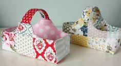Fabric Basket Patchwork Or Favorite Fabric – Quilting Cubby Fabric Storage Boxes, Fabric Boxes, Baby Baskets, Sewing Baskets, Egg Basket, Rope Basket, Gift Basket, Sewing Tutorials, Sewing Hacks