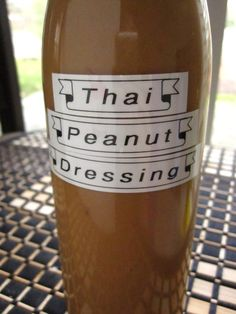 Thai peanut dressing recipe (Thank you, Laurie! We just need sesame oil to try it! :) Plus, Lauren, the author, seems really cool.)