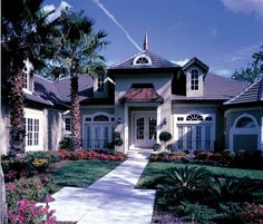Chateau House Plan with 3064 Square Feet and 3 Bedrooms from Dream Home Source | House Plan Code DHSW18580