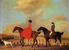 John and Sophia Musters Out Riding at Colwick Hall, George Stubbs. 1777.