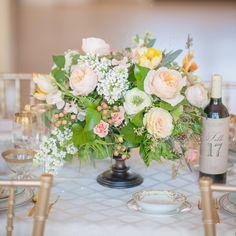 Spring floral centerpiece | 100 Layer Cake