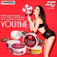 +18 Inovador, o You and Me é um talco comestível corporal!  Existe com sabores Caramel, Chocolate e Açai.  Confira na Boutique Sensual CHARNEL!  www.charnel.com.br