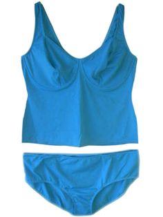 38d3358909 New Blue Tankini Set UK Dress Plus Size 28 & B Cup Underwired No Padding