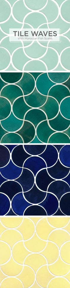 Tile Waves in Moroccan Fish Scales