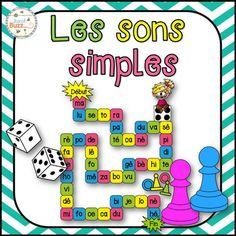 Intgrations:- Lecture- Les sons simples- Centres de littratie- CollaborationVoici 3 jeux trs amusant qui mettent l'emphase sur la lecture des sons simples.Ce jeu marche trs bien dans les centres!Voici les rgles:Chaque joueur commence  la case de dpart (prs de la flche).