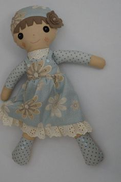 PDF sewing pattern Doll soft toy Dressed doll by GEESPROJECTS: