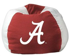 Alabama Crimson Tide NCAA Bean Bag Chair for $52.59 from bedding.com  #alabama #crimsontide #ncaa