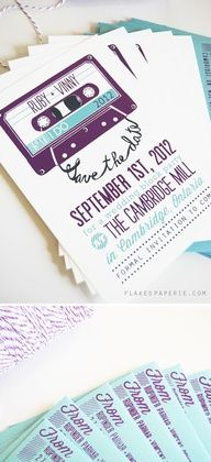 Kinda like the music theme.. could do record for programs or gifts! Wedding Invitation ideas