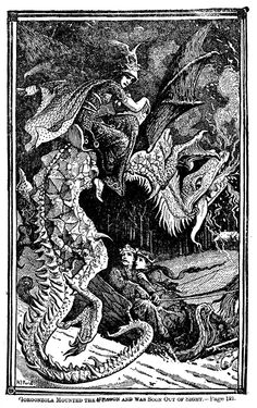 Henry Justice Ford - The green fairy book, edited by Andrew Lang, 1900 (illustration Fairy, Illustrators, Illustration, Fantasy Art, Folk Stories, Ancient Drawings, Book Art, Fairy Book, Vintage Illustration
