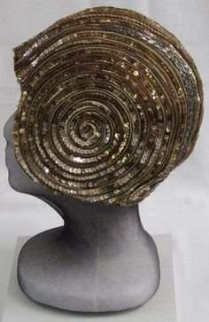 1920s sequinned cloche