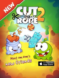 Cut the Rope 2 is now available - go get it now! http://rdrct.it/cuttherope2 #cuttherope #cuttherope2 #omnom #cute #green #little #monster #love #yummy #candy #sweets #playing #play #new #mobile #family #game #games #phone #fun #happy #funny #nommies #smile #nice #love #iphone #ipod #ipad #app #application #puzzle