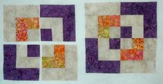 Free Quilt Block Patterns, A Through E: Bento Box Quilt Blocks, the Sew and Slice Way