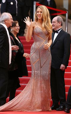 The 2016 Cannes Red Carpet's Best-Dressed Celebrities Blake Lively in Versace