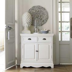Credenza bianca in legno di paulonia L 86 cm | Maisons du Monde