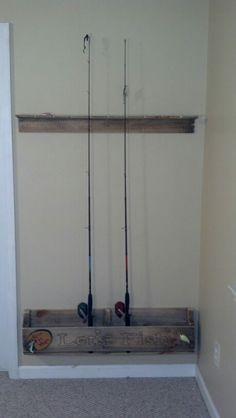 folding chair fishing pole holder timber ridge zero gravity rod storage on garage door uses u-bolts to hold rods and allow them rotate when the ...