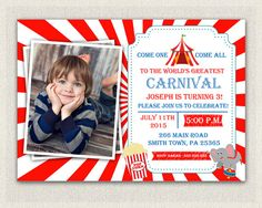 Carnival Circus Theme 1st Birthday by PixiePerfectParties on Etsy