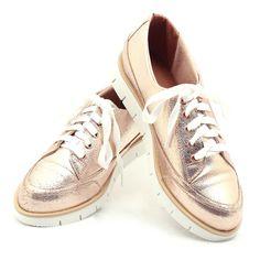 Ana Mello Calçados Femininos - Tênis Flatform Rosê com Solado Branco e Det. Bege - Flatform - Tênis/ Oxford