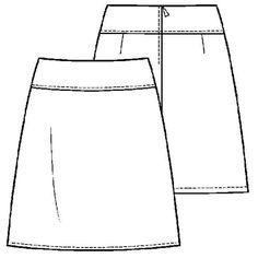 Patroon basis rokje (PDF patroon) | Dames | Knipmode naaipatronen