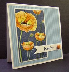*CC375 Poppy Hello by hobbydujour - Cards and Paper Crafts at Splitcoaststampers