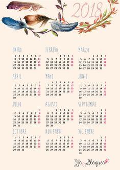 Ya están los calendarios y el planner del 2018 para descargar gratis en el blog, organiza tu año de forma sencilla, verás que modelos #yoblogueo #calendario2018 #2018 #planner