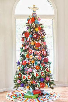 gehaakte kerstboom! - crochet christmastree!